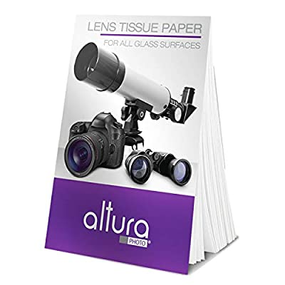 (250 Sheets / 5 Booklets) - Altura Photo Lens Cleaning Tissue Paper + MagicFiber Microfiber Cleaning Cloth by Altura Photo