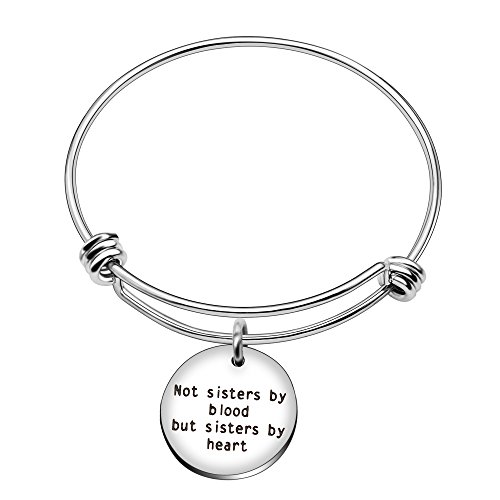 Braccialetto non sorelle di sangue ma Sisters By Heart Inspirational sorelle Best Friend Family Gifts