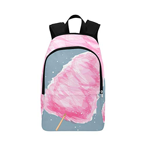 ZXWXNLA Casual Tote Bag Cotton Candy Sweet On Stick Creative Durable Water Resistant Classic Casual Satchel Bags for Women Best Hiking Bag Youth Bookbag Casual Sling Bag for Men