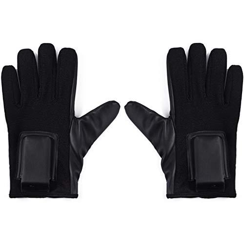 HNHX Handschuhe Outdoor-Mehrzweck-Schutzhandschuhe Schlagfeste Elektroschockhandschuhe Verdeckte Elektronische Fanghandschuhe (Color : Black)