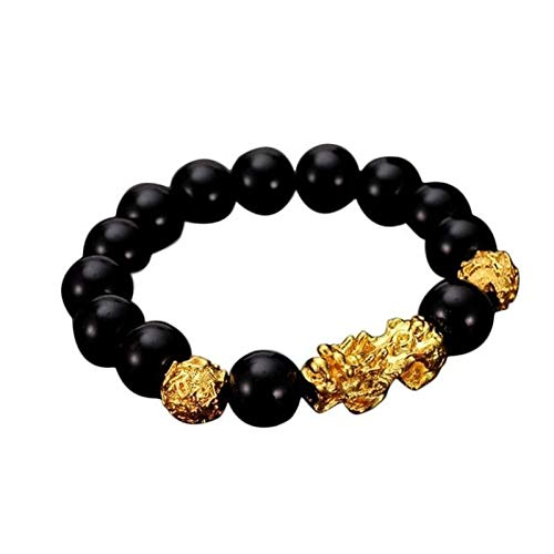 XYBB Troops Beads PIXIU Bracelet For Women Men Beads Couple Bracelet Bring Lucky Brave Wealth Feng Shui Bracelets (Metal Color : A)