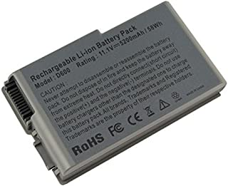 AC Doctor INC 5200mAh 6Y270 1X793 3R305 Battery for Dell Latitude D600 D610 D500 D505 D510 D520 D530 PP05L PP11L d605 Laptop Notebook Battery 6 Cell