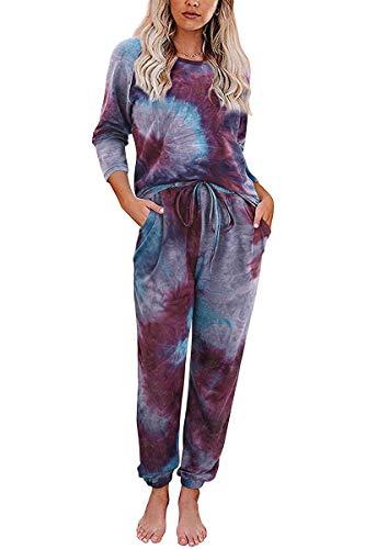 BABYONLINE D.R.E.S.S. Damen Schlafanzug Nachthemd Hausanzug Nicki Ohne Kapuze Hausanzug Kuschlig Jogginganzug Sportlich, XL