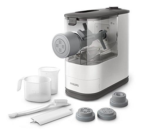 Philips HR2333/12 Máquina para Hacer Pasta, 150 W, 450 g, Plástico, Blanco