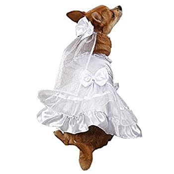East Side Collection Polyester Yappily Ever After Dog Wedding Dress Large 20-Inch White