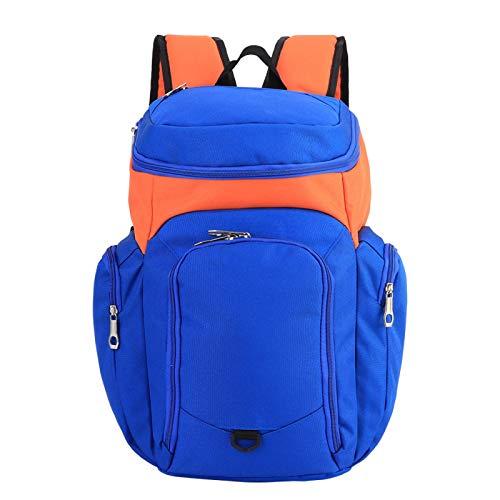 Oreilet Bolsa de Entrenamiento, Bolsa de Baloncesto, Correas Transpirables ensanchadas y engrosadas, Simple y Duradera para Estudiantes Adultos(Orange with Blue)