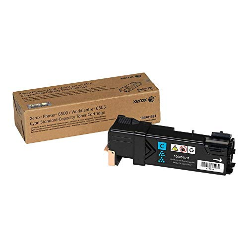 Xerox Phaser 6500/ WorkCentre 6505 Cyan Standard Capacity Toner Cartridge (1,000 Pages) - 106R01591