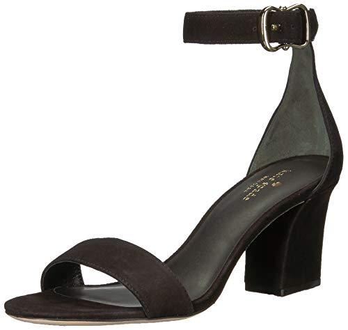 Price comparison product image Kate Spade New York Women's Susane Heeled Sandal,  Black Kid Suede,  8 M US