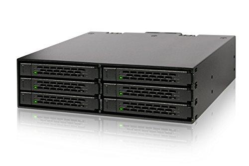 ICY DOCK Wechselrahmen für 6X 2,5 Zoll (6,4cm) SATA SSD/HDD in 1x 5,25 Zoll (13,3cm) - Vollmetall ToughArmor MB996SP-6SB