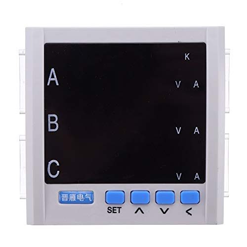 ZHFENG JY194E 3P DREI-Phasen-Multifunktions-Energiemessgerät Strom Spannung 480V 55Hz LCD-Anzeige Energiezähler Messgeräte (Color : White)