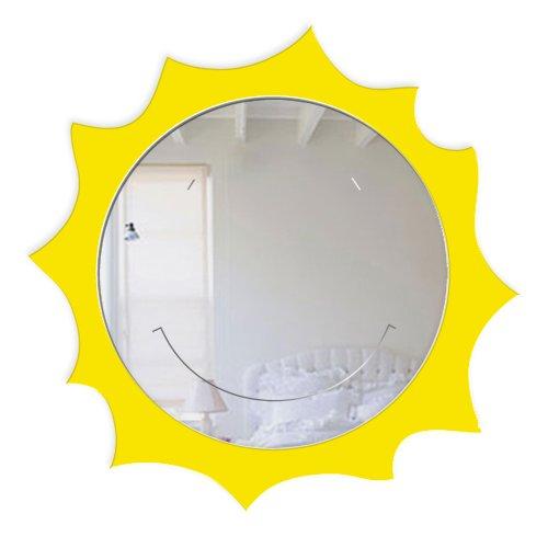 "Mungai Espejos - Espejo\""Sun feliz\"", acrílico, 45 cm"