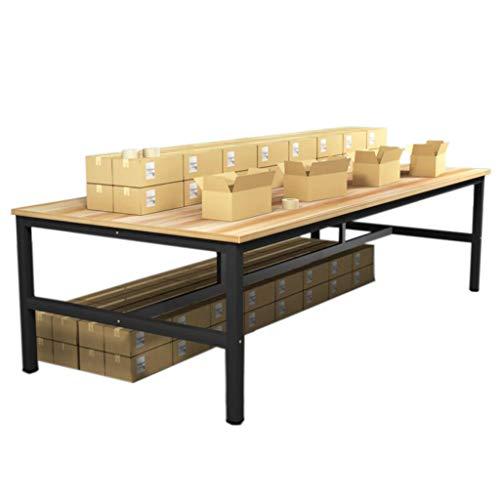 AICN Massivholz-Werkbank Ganzstahl-verdickter Tischrahmen Werkstattverpackung Fließband-Operationstisch Werkstisch Labortisch Tragender Arbeitstisch Balkon Wohnzimmer-Lagerarbeitstisch