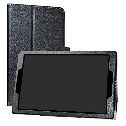 Labanema Chuwi HiPad Funda, Slim Fit Carcasa de Cuero Sintético con Función de Soporte Folio Case Cover para Chuwi HiPad 10.1 Pulgadas Tablet - Negro