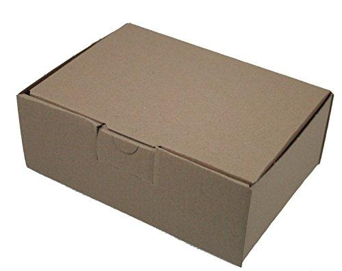 200 Faltkartons 160 x 110 x 60 mm, Verpackung Versand Schachtel aus Wellpappe Karton Kiste Postversand