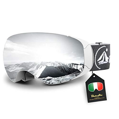 ButcHer Gafas de Esquí, Gafas de Snowboard UV400 Protección para Hombre Mujer Anti Niebla Gafas de Esquiar OTG Gafas a Prueba de Viento