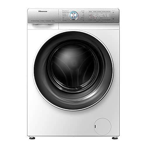 Hisense WFQR1014EVAJM 60cm Freestanding 10KG Front Load Washing Machine - 1400 RPM - Auto Dosing - Pure Steam - Pause & Add - PureJet - White