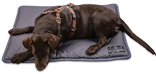 LUGUNO® Hundekissen 80 x 60 cm Grau Waschbar Wasserdicht, für mittelgrosse Hunde, Outdoor & Zuhause Robust Wendekissen Weich & Bequem