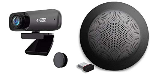 Project Telecom 4K UHD   Ultra High Definition Webcam   USB Wireless Bluetooth Audio Speakerphone   Bundle Package   Compatible with Zype