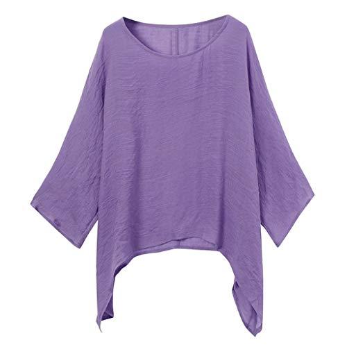 OPAKY Blusas para Mujer, Camiseta Casual Tops Camisetas Blusa Vestido Camisero Largo...