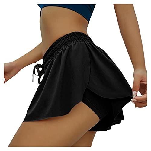 LowProfile Golf Tennis Skorts Inner Shorts for Women Summer, 2 in 1 Workout Running Yoga Skort Drawstring Mini Skirts,21