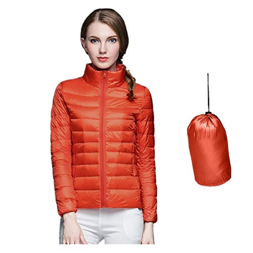 Xiangdanful Damen Winterjacke Übergangsjacke Ultra-Leichte Daunenjacke mit Kapuze Frauen Wintermantel Parka Steppjacke Overcoat Kapuzenmantel Mädchen Down Jacket Outdoor Hoodie (XXL, Orange)