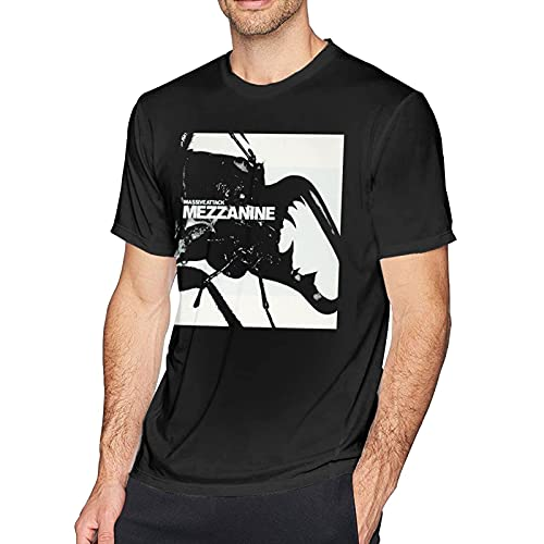 Massive Attack Mezzanine T Shirt Men's Cotton T Shirt Fashion O Neck Short Sleeve Tees Black T-Shirts à Manches Courtes(XX-Large)