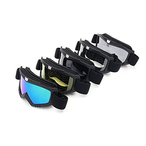 Riding beschermende helm afneembare gezicht motorcross fiets cross land flexibele helm gezicht masker bril Transparant