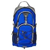 Bolsa, bolsa de montañismo al aire libre, malla resistente al desgarro de alta densidad, correa de hombro de malla, ajuste transpirable, hebilla de cintura ajustable y silbato de supervivencia, azul