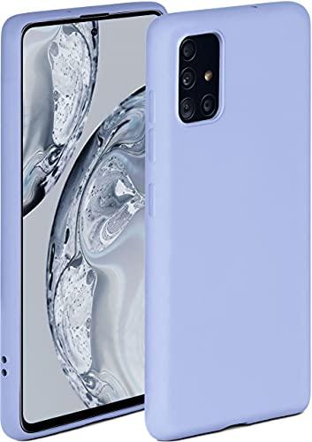 ONEFLOW Soft Hülle kompatibel mit Samsung Galaxy A51 Hülle aus Silikon, erhöhte Kante für Displayschutz, zweilagig, weiche Handyhülle - matt Hellblau
