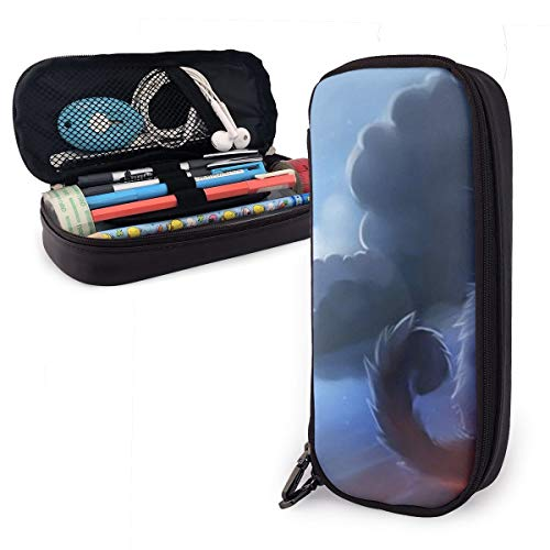 NiYoung Pen Pencil Case Pouch Holder Big Capacity Stationery Box for School Supplies Office Stuff & Travel Carrying Bag (Warrior Cat Fashion)