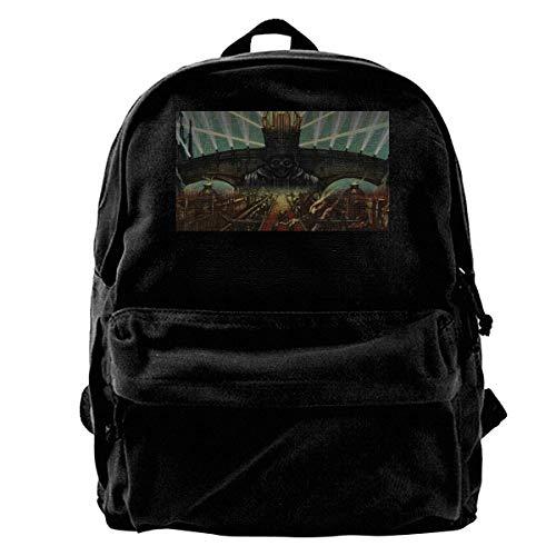 Mochila de viaje de moda casual de lona BookbagGhost Bc moda mochila de viaje patrón de lona mochila unisex portátil al aire libre