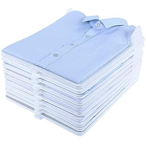 HJJ 10 Paquetes DURANTES Ropa de Vestuario apilable organizadores, Tablero de titulares de Carpetas de la Carpeta de la Camiseta Antiarrugas, para Calcetines Bebé Corbatas y Bufandas