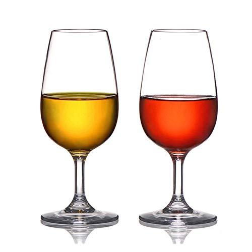 YJLLOVE YANGJIAOLIAN 2 unids/Lote plástico inquebrantable Copas de Vino Rojo cóctel Vidrio Copa de Vino Jugo Vino Beber Vasos Tazas casero Boda Fiesta (Color : 220ML)