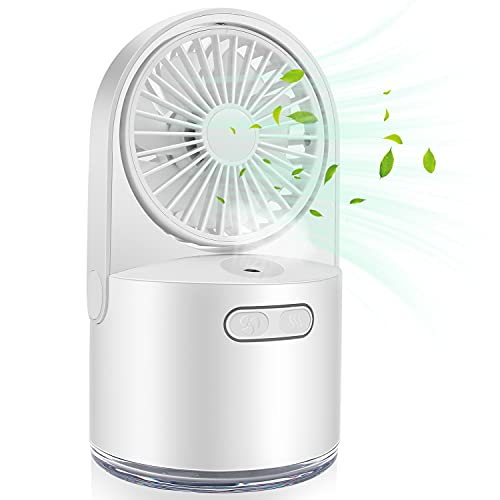 Ventilatore da tavolo, ultra silenzioso, climatizzatore mobile, Air Cooler Mini,mini climatizzatore d'aria, regolabile in 3 posizioni, adatto per camera da letto,...