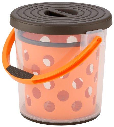 イノマタ化学 バケツ 多目的スプラッシュ10 ブラウン&オレンジ