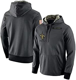 Dunbrooke Apparel New Orleans Saints Salute to Service Anthracite Hoodie for Men Women