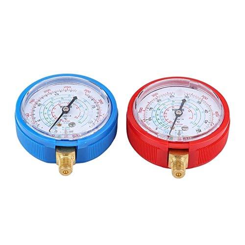 LIXUDECO Indicador de presión 2pcs Car Auto High Tesser ProbSer Gauge Aire Acondicionador de Aire Acondicionado Frigorífico Kit de Calibre de presión para R410A R22 refrigerante