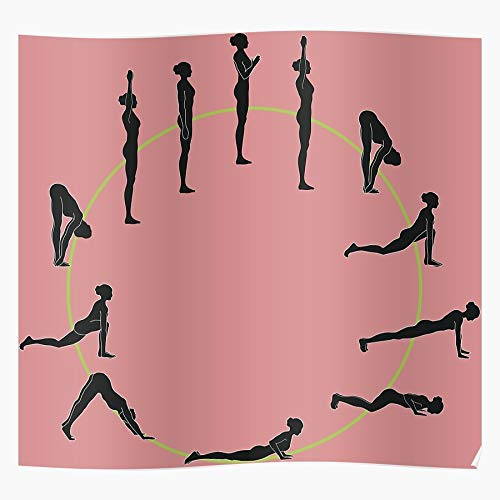 Instructor Christmas Salutation Baby Yoga Chick Birthday Sun I Fsgteam- Impressive and Trendy Poster Print decor Wall or Desk Mount Options
