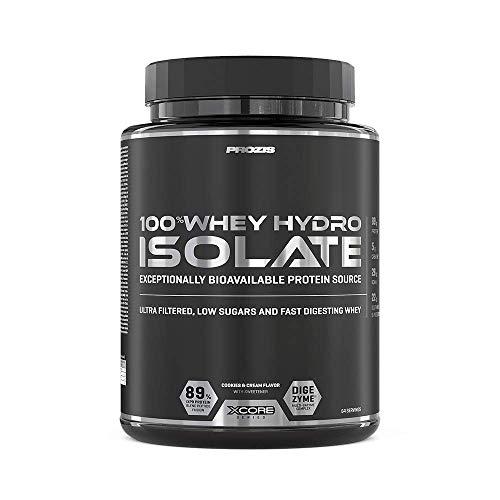 Prozis 100% Whey Hydro Isolate SS para la Quema De Grasas, la Recuperación Muscular y la Musculación, Fácil de Digerir y Bajo en Carbohidratos, Galletas y Crema - 2000 g
