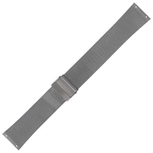 Skagen Uhrenarmband 22mm Edelstahl Titan/Silber - SKW6108