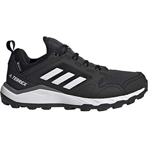 adidas Originals Women's Terrex Agravic TR GTX Trail Running Shoe, Black/Crystal White/Acid Mint, 5