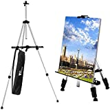 amzdeal Easels for Painting Artist Easel Stand for Adults/Kids, Lightweight & Adjustable Height Design with Carry Bag for Indoor and Outdoor