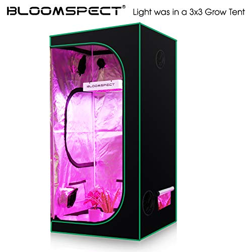 BLOOMSPECT Upgraded 1000W LED Grow Lights with Veg & RED & Bloom 3 Modes,Daisy Chain, Double Chips Full Spectrum Plant Grow Light for Indoor Plants Veg and Flower (100pcs 10 Watt LEDs)