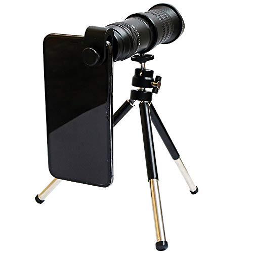 Lente De La Cámara del Teléfono Celular, Profesión Lente Telefoto con Rueda De Zoom 18-30x Telescopio Monocular 4K HD con Lente De Revestimiento De Alta Definición De Película Roja De 12 Capas
