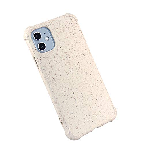Inbeage Eco Armor,iPhone 11 Drop Protection Phone Case,Natural Texture,Speckled,100% Biodegradable and Compostable,Eco-Friendly,6.1 Inches (Milky White)