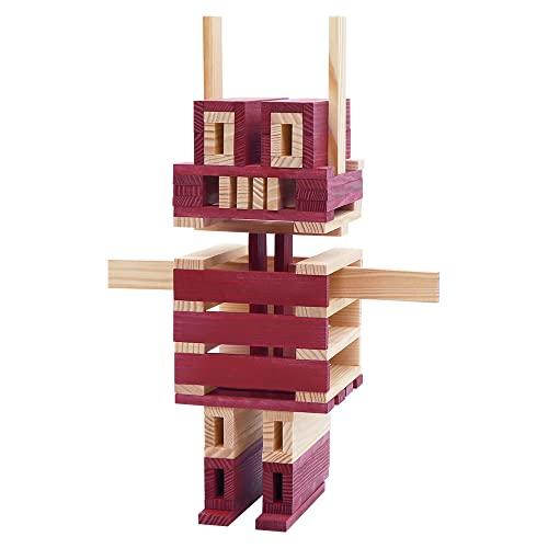 Kapla 9000160 Holzplättchen 40-teilig in Box, violett - 6