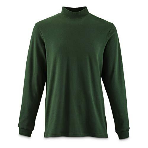 Guide Gear Men's Mock Turtleneck Long-Sleeve Shirt, Pine, Large