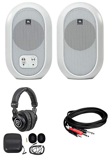 Best Buy! Pair JBL 104 Powered Studio Reference Monitors w/Bluetooth+Headphones 104SET-BTW