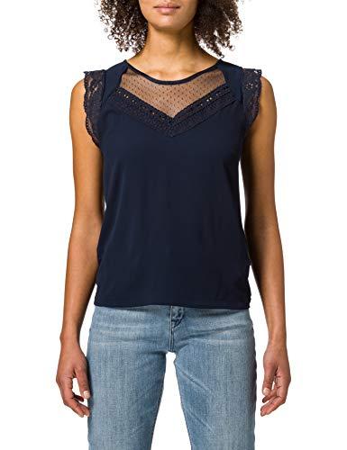 Naf Naf OSWANITA Camiseta, Azul Marino, XL para Mujer
