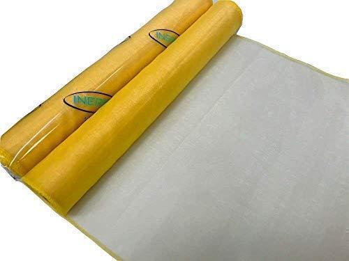 INERRA 9 meter Organza stof 40cm breed (kleur opties) Bruiloft Sheer Tafel Runner Sash Bow Stoel Cover Swags 9 Metres x 40cm Geel
